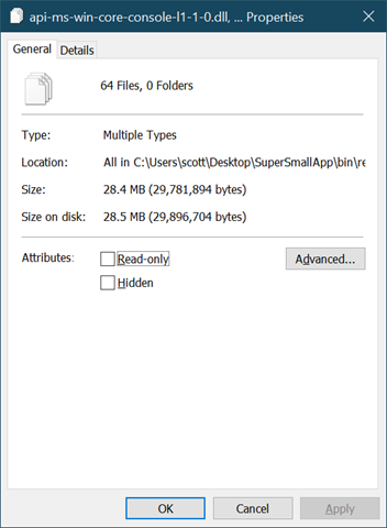 64 files, 28 megs