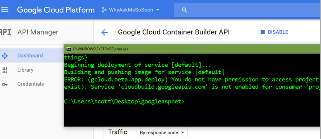 Needed to enable some Billing APIs in the Google Cloud