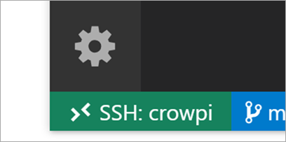 Green badge in VS Code - SSH: crowpi