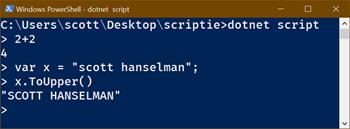 dotnet script