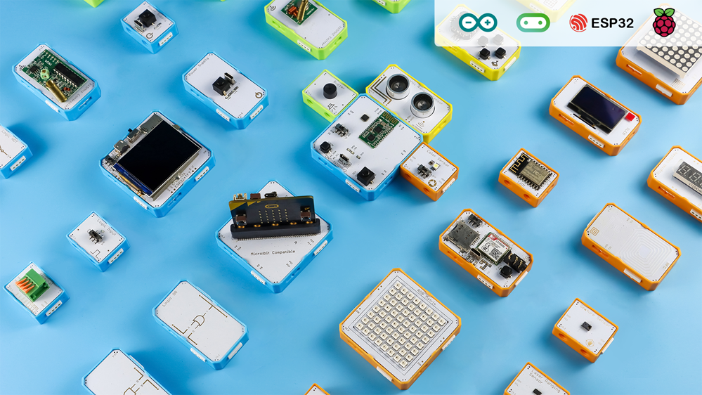 Crowbits are Electronic Programmable LEGO Compatible Blocks for STEM Education