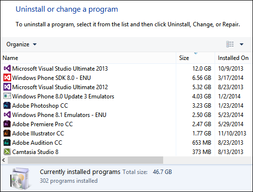 Guide to Freeing up Disk Space under Windows 8 1 - Scott