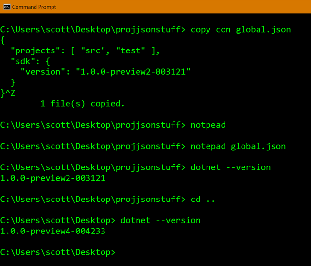 Global.json is useful