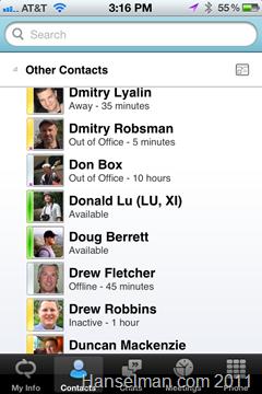 Living a Microsoft lifestyle using Apple iOS products - Lync