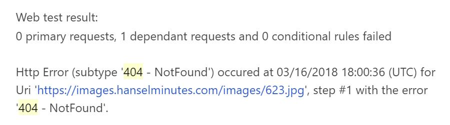 1 dependant request failed