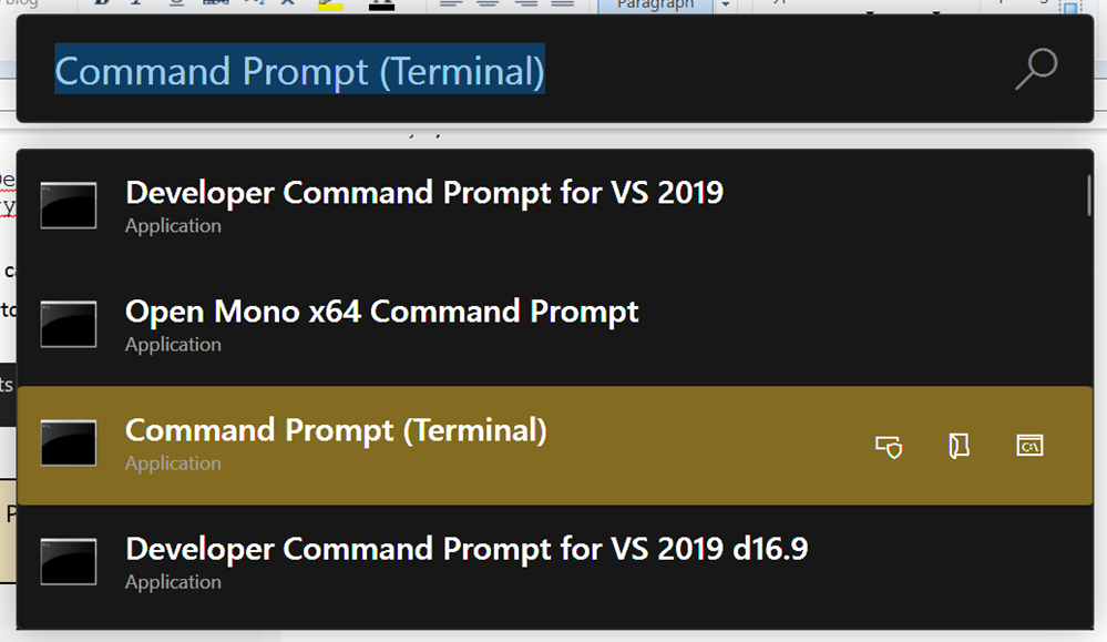 How to make Command Prompt, PowerShell, or any Shell launch from the Start Menu directly into Windows Terminal