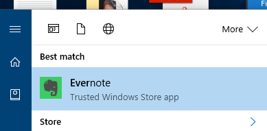Evernote in the Windows 10 Store with Project Centennial