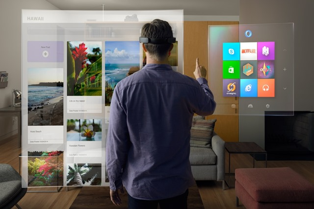 Virtual stuff floating in front of a HoloLens