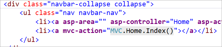 "<a mvc-action=""MVC.Home.Index()"">"