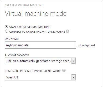 Making a Stand-Alone VM