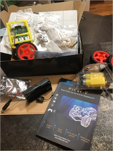 Preparing to build the SunFounder Raspberry Pi car