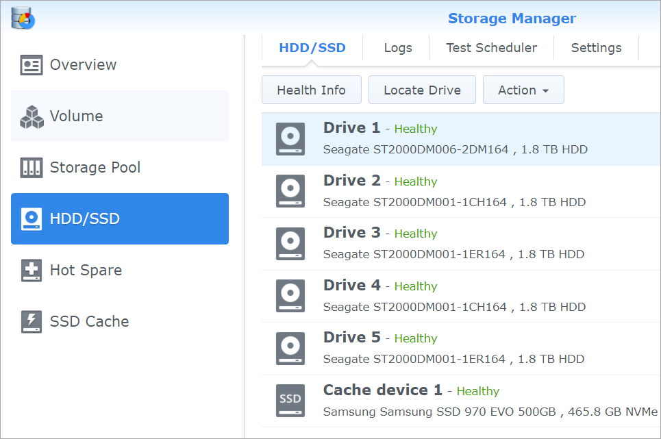 5 Drives in a Synology