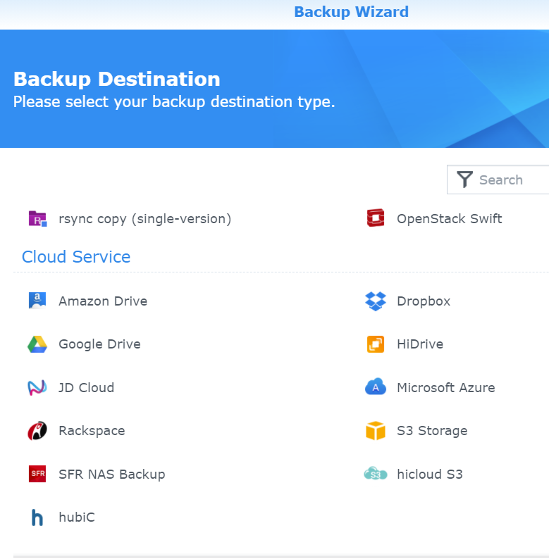 Backup to Azure from a Synology