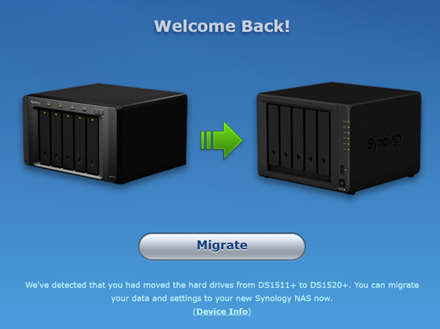 Migrate your Synology