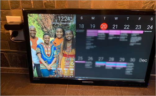 How to build a Wall Mounted Family Calendar and Dashboard with a Raspberry Pi and cheap monitor
