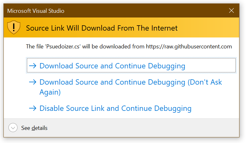 Source Link Will Download from The Internet