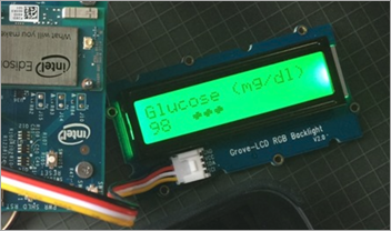 Blood sugar display on a color changing keyboard #IoT
