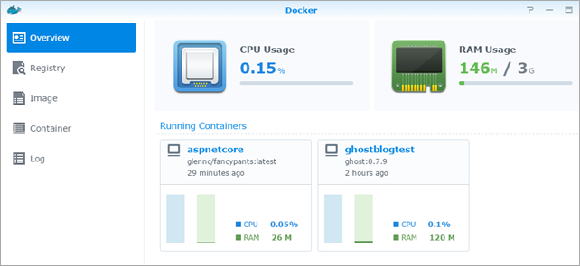 Docker on a Synology NAS - Also running ASP NET and  NET