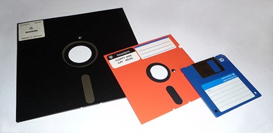 Floppy Disks of Various Sizes, 3.5
