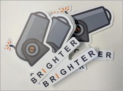 "The logo for the ""Brighter"" Open Source project is a little cannon. Fire and Forget?"