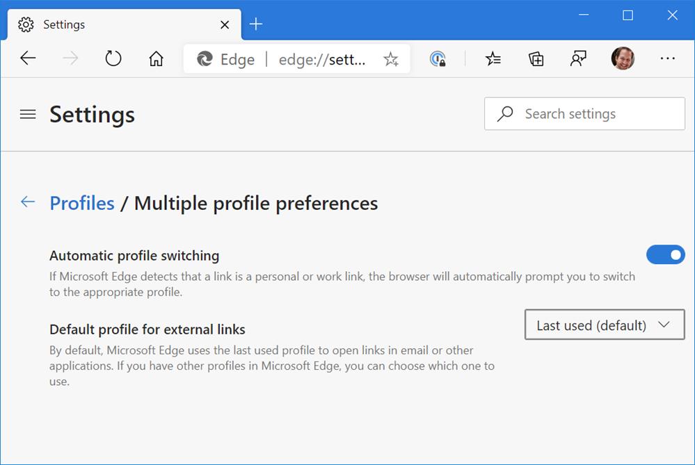 Multiple profile preferences