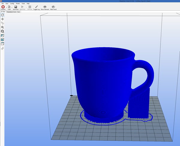 My 3D model with support