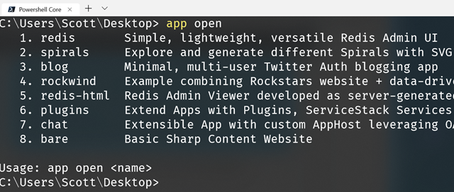 SharpScript from ServiceStack lets you run  NET apps