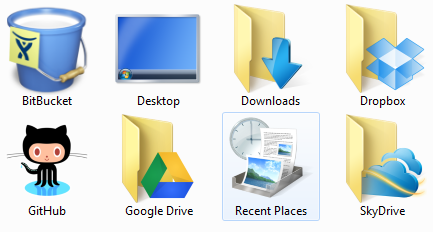 Changing the DropBox icon to a folder