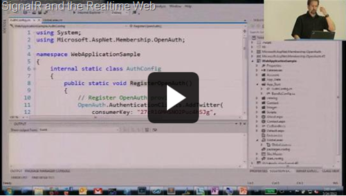 The SignalR and the Realtime Web video