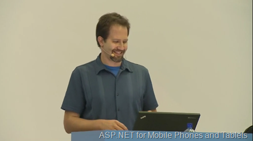 The ASP.NET for Mobile Phones and Tablets video