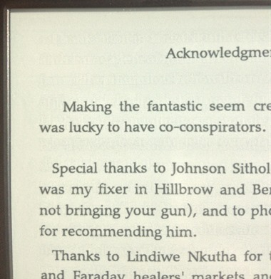 Kindle Paperwhite with text ghosting