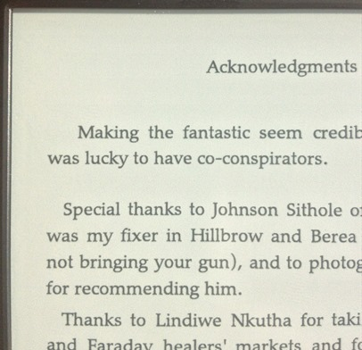 Kindle Paperwhite with NO text ghosting