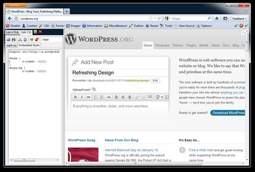 WordPress SOPA floats a giant DIV