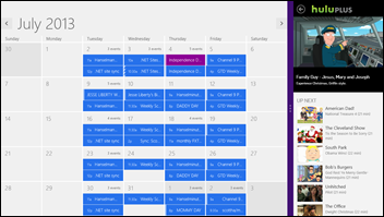 Surface running Hulu and my Calendar