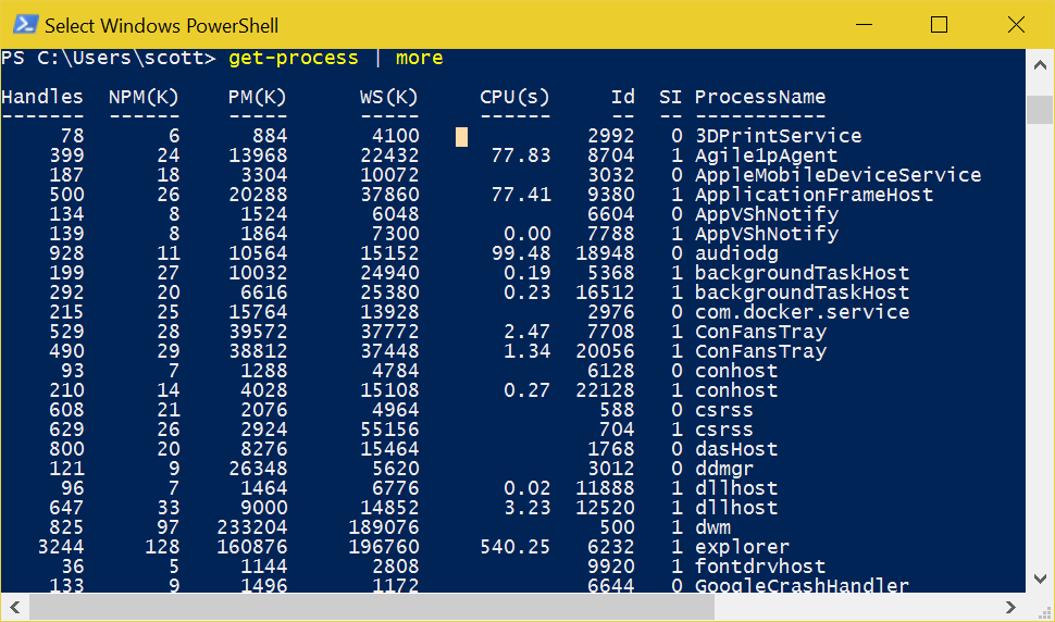 PowerShell on Windows