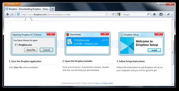 Dropbox - Mozilla Firefox