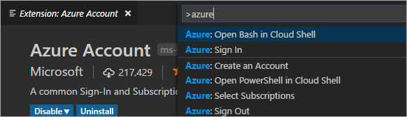 VS Code Command Palette Azure Cloud Shell - your own bash shell and container - right inside Visual Studio Code - image 92178b26 08fd 42e9 ab6e 0983a90ff531 - Azure Cloud Shell – your own bash shell and container – right inside Visual Studio Code