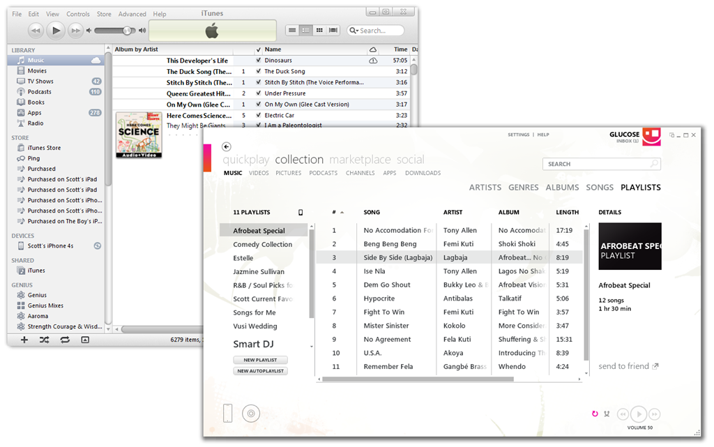 Zune and iTunes