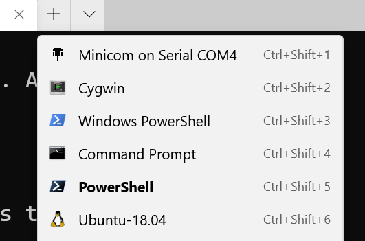 Cool icon in Windows Terminal for Serial Ports