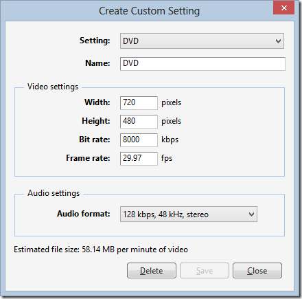 Creating a Custom DVD Setting in Windows Live Movie Maker