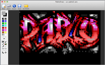 Amazing Cross Platform ANSI art editor