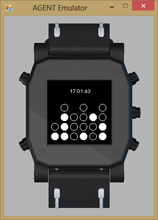 Now my AGENT Smart Watch has the time printed above the Binary Clock