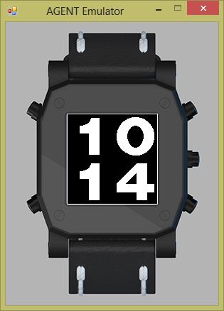 BigDigits example Watch for AGENT Smart Watch
