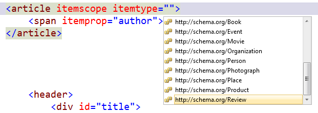 Adding http://schema.org/ attributes to an article
