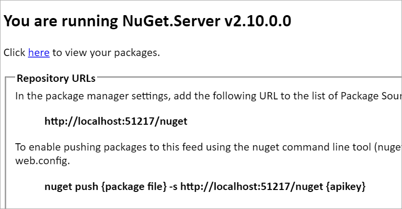 How to host your own NuGet Server and Package Feed - Scott