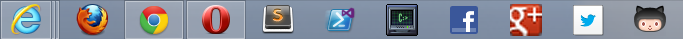 No this is not how I arrange my taskbar.