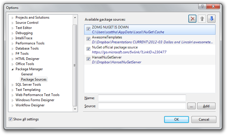 How to access NuGet when NuGet org is down (or you're on a plane
