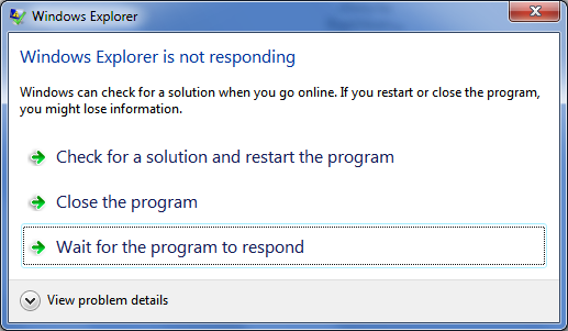 Not Responding