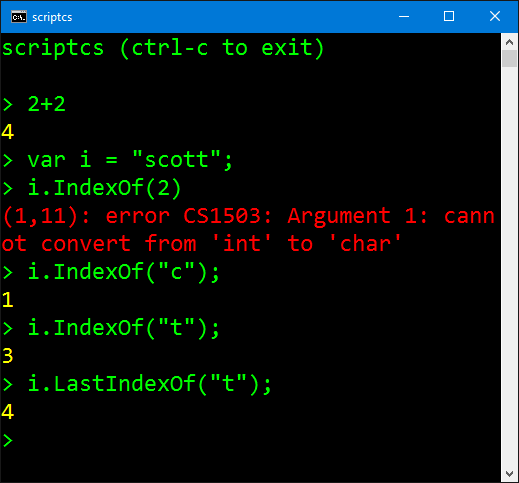 Interactive Coding with C# and F# REPLs (ScriptCS or the
