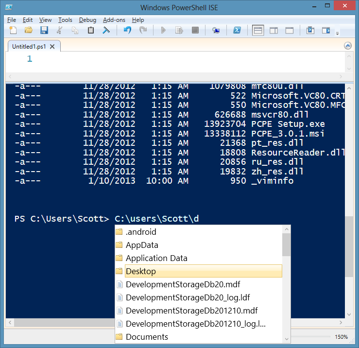 The PowerShell ISE